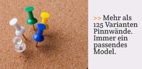 Mehr als 125 Varianten Pinnwände. Immer ein passendes Model.